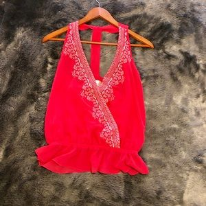 Tops - Embroidered halter top